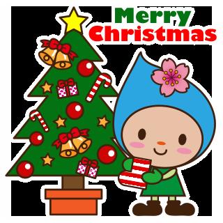 はむりんlineスタンプクリスマスお正月編 羽村市公式サイト